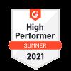 G2 High Performer Summer 2021