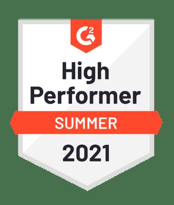 G2 High Performer Badge for Sana Commerce B2C E-Commerce Page