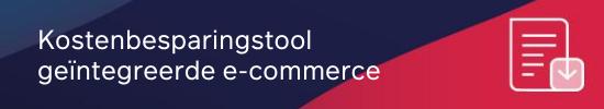 Kostenbesparingstool geïntegreerde e-commerce CTA