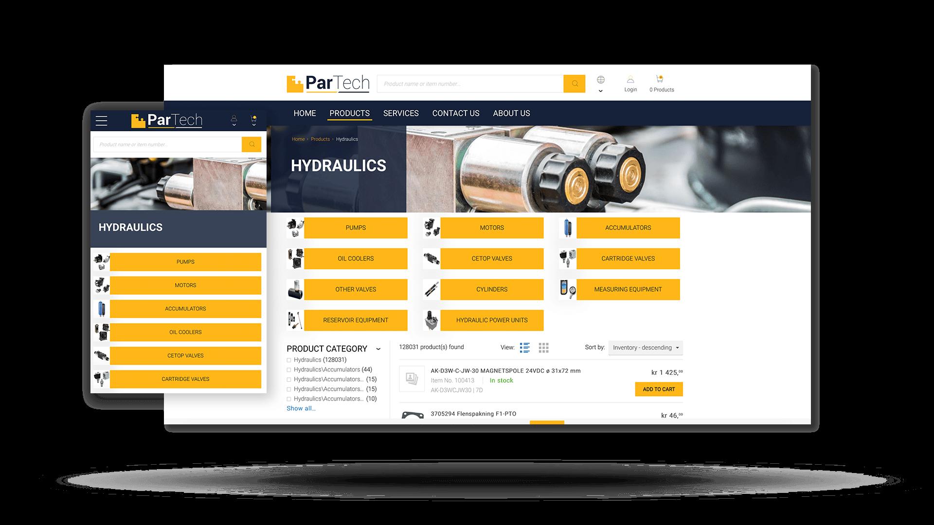 ParTech's new Sana Commerce web store