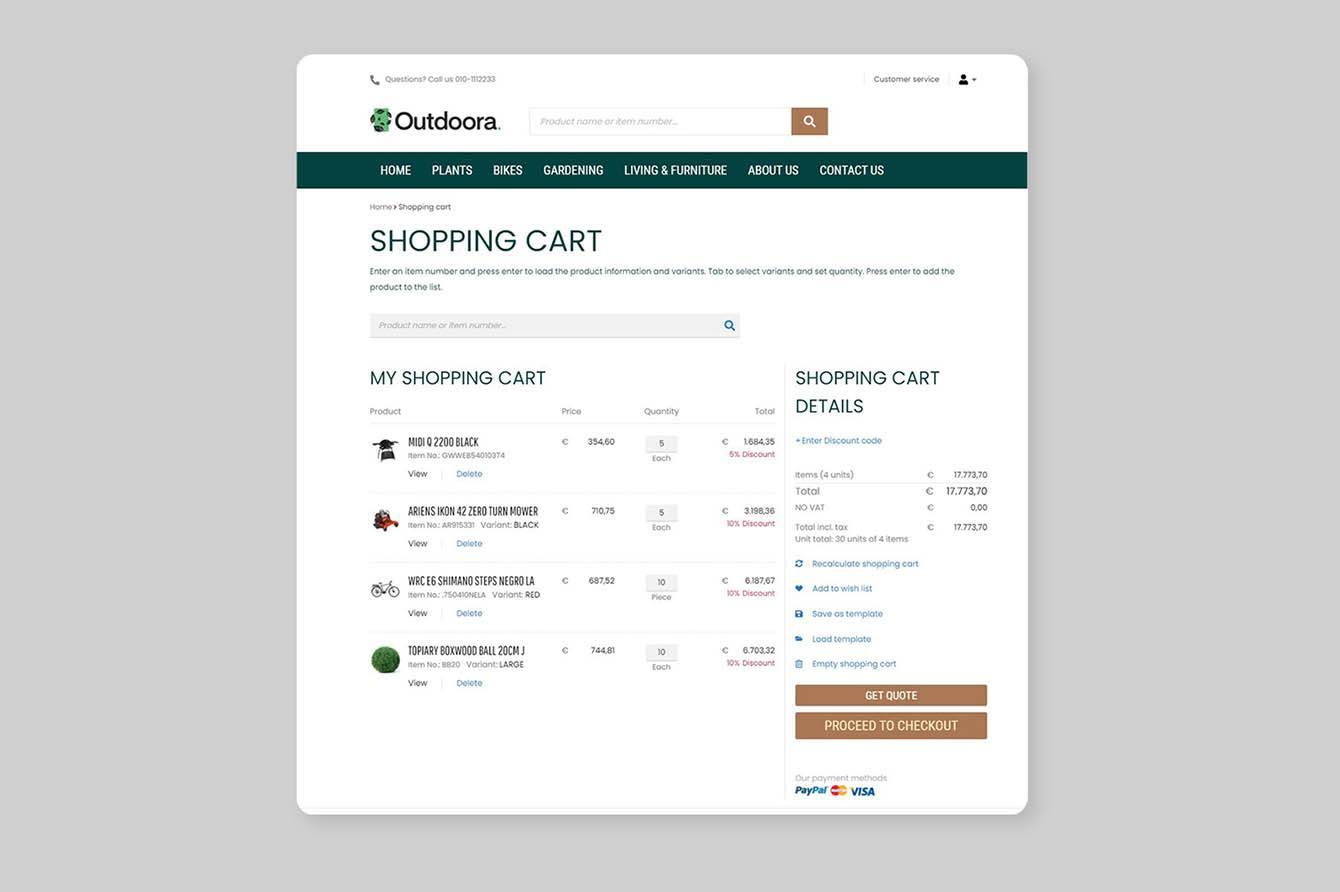 B2B-optimized checkout