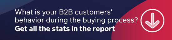 Get the report for customer behavior stats during the buying process