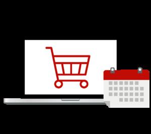 online shopping calendar