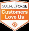 Sourceforge customers love us badge